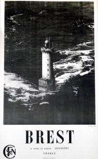 Brest, le phare de Kéréon, Ouessant – 1960