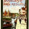 «Voyages à prix réduits, Normandie, Bretagne» – 1905
