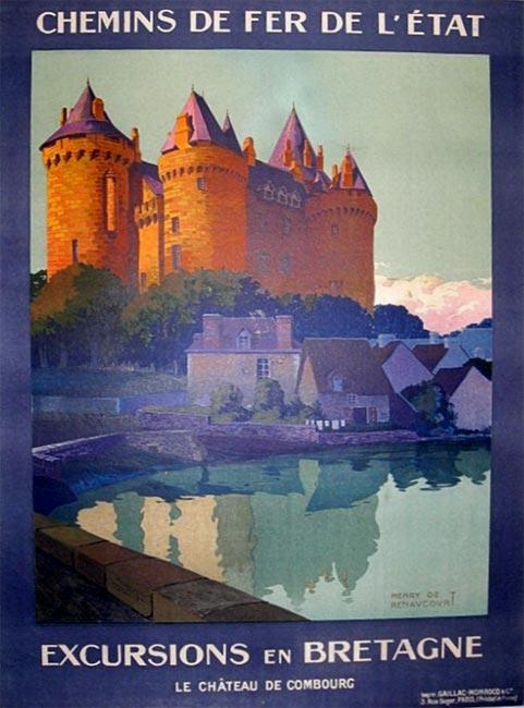 """""""Excursions en Bretagne, le château de Combourg"""" – 1920"""