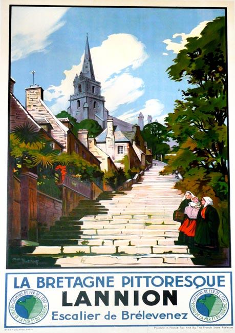 la bretagne s affiche la bretagne pittoresque lannion 1930 vintage posters gallery. Black Bedroom Furniture Sets. Home Design Ideas