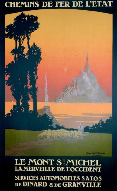 la bretagne s affiche le mont saint michel 1925 vintage posters gallery. Black Bedroom Furniture Sets. Home Design Ideas