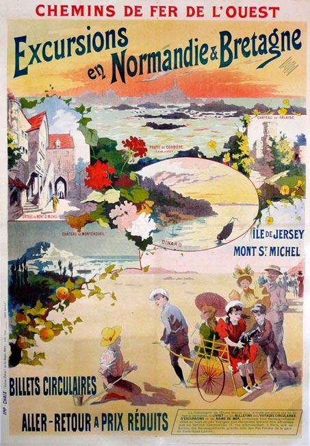"""""""Excursions en Normandie & Bretagne, Mont St Michel"""", 1900"""