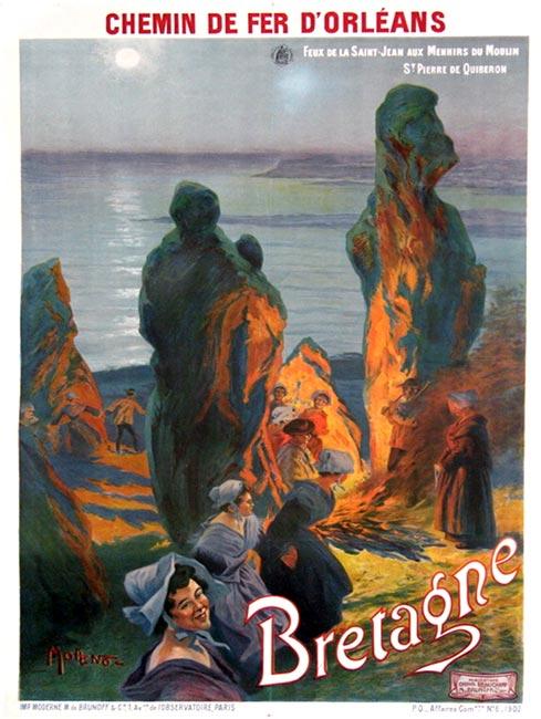 """""""Bretagne, menhirs aux moulin de St Pierre"""" – 1902"""